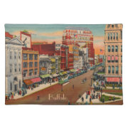 Main Street - Buffalo, NY Vintage Cloth Placemat