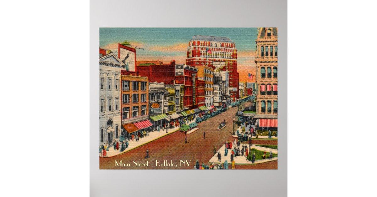Main Street Buffalo Ny Vintage Poster Zazzle