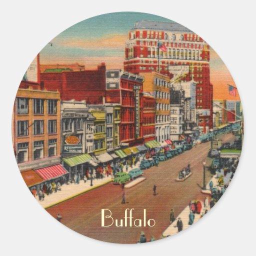Main street buffalo ny vintage stickers zazzle for Craft stores buffalo ny