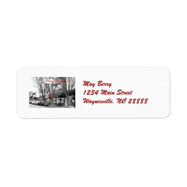 USA Themed Main Street Christmas Address Labels