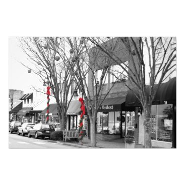 USA Themed Main Street Christmas Photo Print