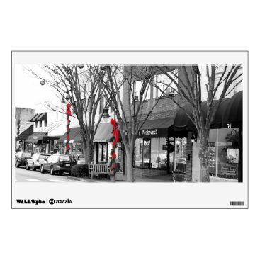 USA Themed Main Street Christmas Wall Decal