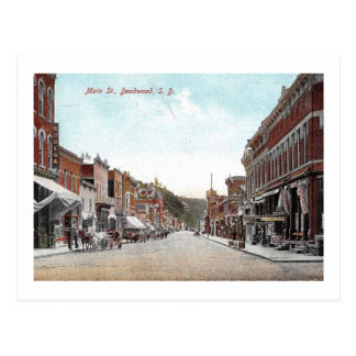 Main Street, Deadwood, South Dakota Vintage Postcard