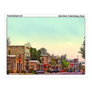 Main Street, Fredericksburg, TX Postcard