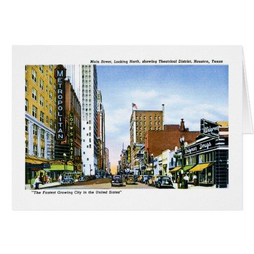 Main Street, Houston, Texas Greeting Card