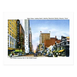 Main Street, Houston, Texas Postcard