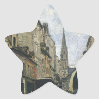 Main Street in Argenteuil by Alfred Sisley Star Sticker