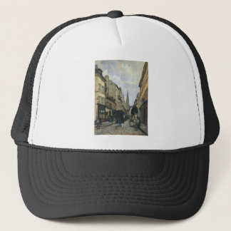 Main Street in Argenteuil by Alfred Sisley Trucker Hat