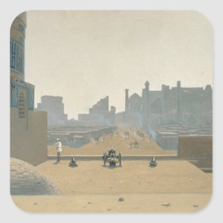 Main Street in Samarkand, Early Morning, 1869-70 Square Sticker