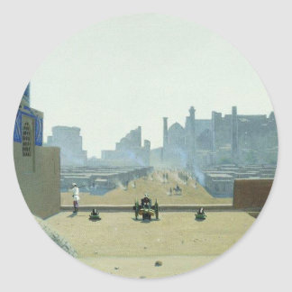 Main Street in Samarkand, from the height Classic Round Sticker