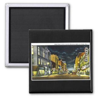 Main Street, La Crosse, Wisconsin 2 Inch Square Magnet