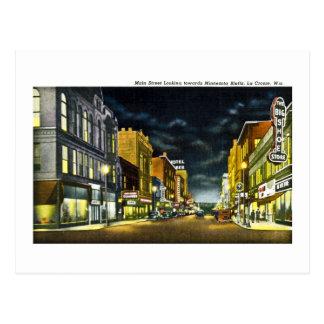 Main Street, La Crosse, Wisconsin Postcard