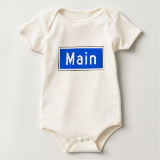 Main Street, Los Angeles, CA Street Sign Baby Bodysuit