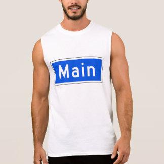 Main Street, Los Angeles, CA Street Sign Sleeveless Shirt
