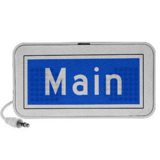 Main Street, Los Angeles, CA Street Sign iPod Speakers