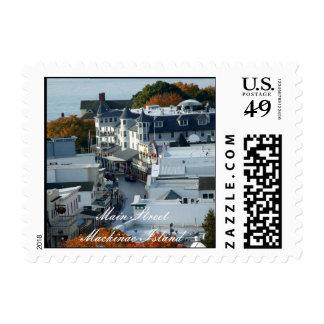 Main Street Mackinac Island Postcard Stamp