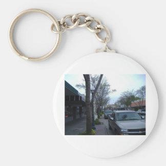 Main Street, Merced Basic Round Button Keychain