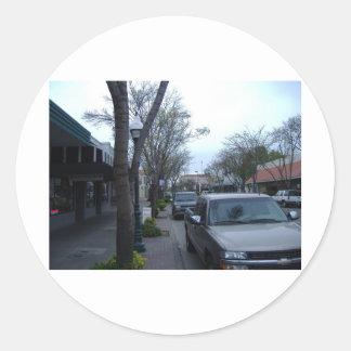Main Street, Merced Classic Round Sticker