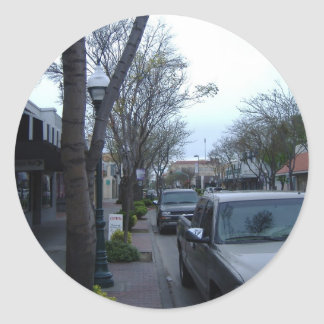Main Street, Merced Round Sticker