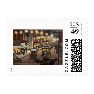 Main Street, Norfolk, Virginia Vintage Postage