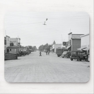 Main Street of Kelliher, Minnesota, 1930s Mouse Pad