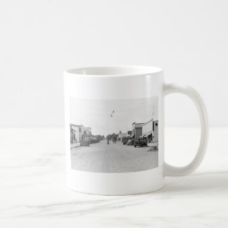 Main Street of Kelliher, Minnesota, 1930s Classic White Coffee Mug