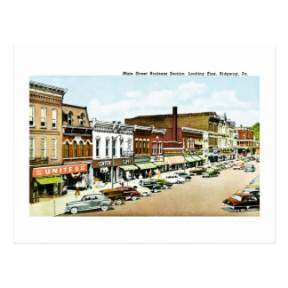 Main Street, Ridgway, PA Postcard