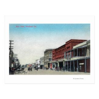 Main Street SceneWoodland, CA Postcard