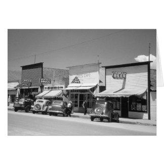 Main Street Shops, 1941 Card