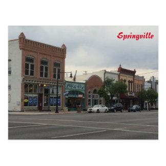 Main Street - Springville - Utah Postcard