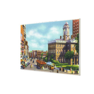 Main Street View of State Street & Old State Canvas Print