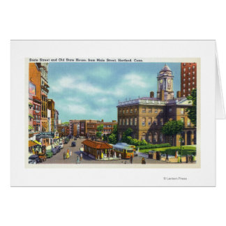 Main Street View of State Street & Old State Card