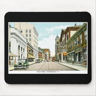Main Street, Woonsocket, Rhode Island Mouse Pad