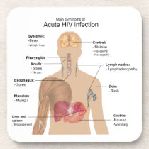 Main Symptoms of Acute HIV Infection Coaster
