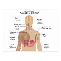 Main Symptoms of Acute HIV Infection Postcard