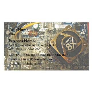 Mainboard del ordenador plantilla de tarjeta personal