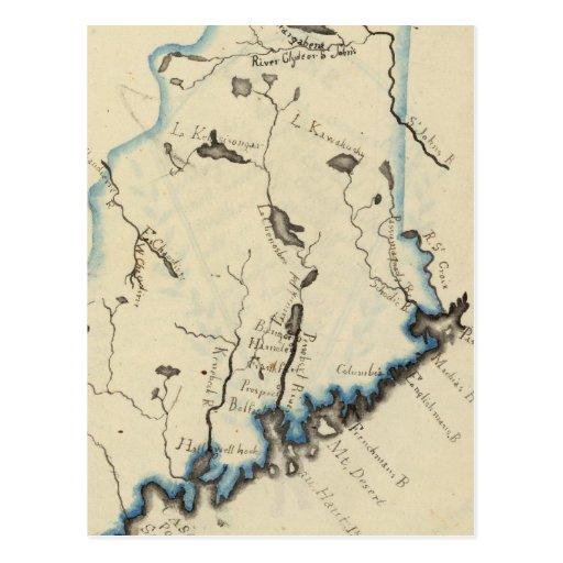 Maine 11 tarjeta postal