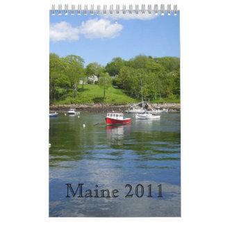 Maine 2011 Coastal Calander Calendario De Pared