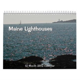 Maine 2012 Lighthouse Calendar