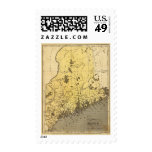 Maine 2 postage stamps