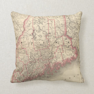 Maine 6 throw pillow