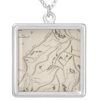 Maine 8 silver plated necklace