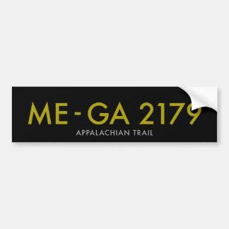 Maine a Georgia 2179 millas - rastro apalache Pegatina Para Auto