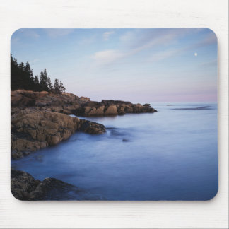 Maine, Acadia National Park, Moonset Mouse Pad