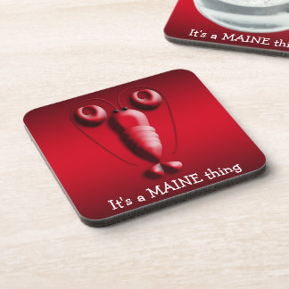 Maine Adorable Red Lobster Heart-Shaped Pincers Coaster