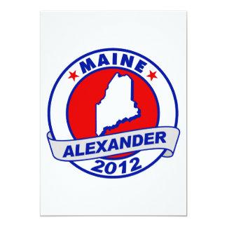 Maine Alexander 5x7 Paper Invitation Card