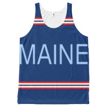 Maine All-Over Printed Unisex Tank