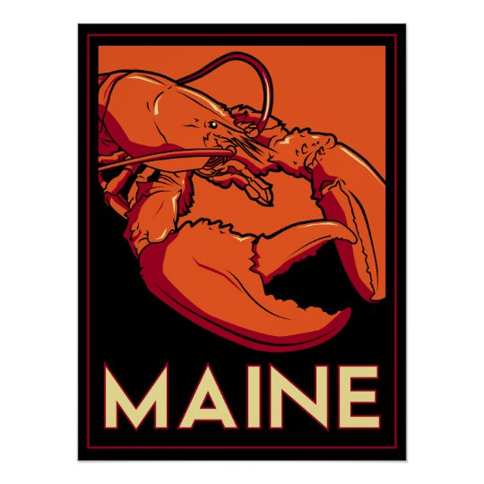 Maine Art Deco Poster