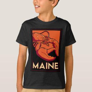Maine art deco retro travel poster T-Shirt