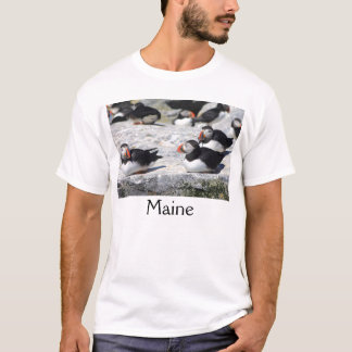 Maine Atlantic Puffins At Ease T-Shirt